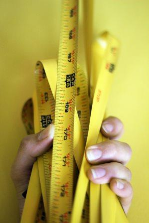 Tape Measure with Fraction Markings
