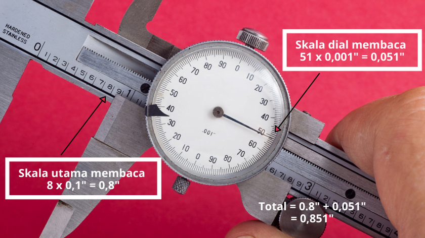 how to read dial caliper