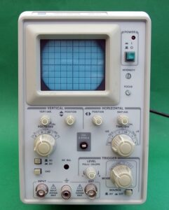 The look of old-style CRT Oscilloscope